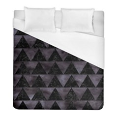 Triangle2 Black Marble & Black Watercolor Duvet Cover (full/ Double Size) by trendistuff