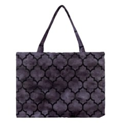 Tile1 Black Marble & Black Watercolor (r) Medium Tote Bag by trendistuff