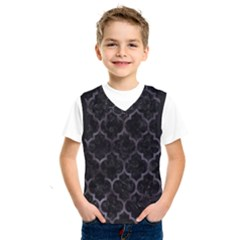 Tile1 Black Marble & Black Watercolor Kids  Basketball Tank Top