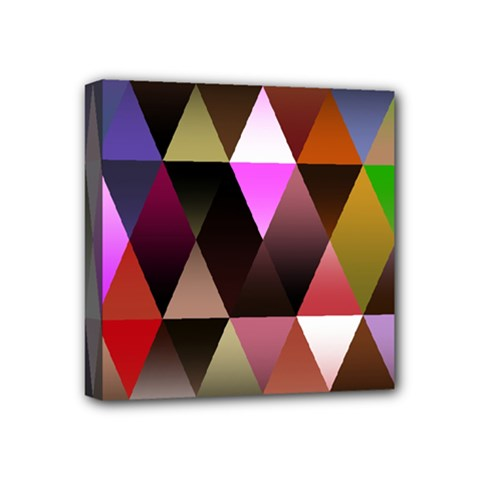 Triangles Abstract Triangle Background Pattern Mini Canvas 4  X 4  by Simbadda