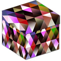 Triangles Abstract Triangle Background Pattern Storage Stool 12   by Simbadda
