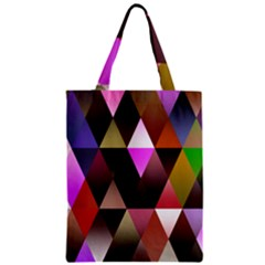 Triangles Abstract Triangle Background Pattern Zipper Classic Tote Bag by Simbadda