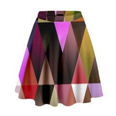 Triangles Abstract Triangle Background Pattern High Waist Skirt by Simbadda