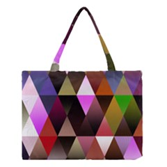 Triangles Abstract Triangle Background Pattern Medium Tote Bag by Simbadda