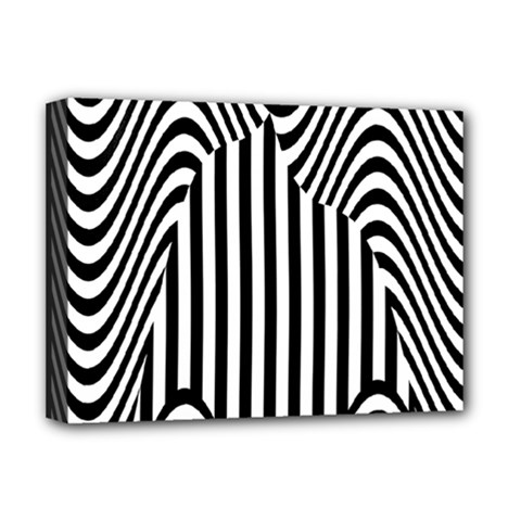 Stripe Abstract Stripped Geometric Background Deluxe Canvas 16  X 12   by Simbadda
