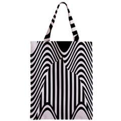 Stripe Abstract Stripped Geometric Background Zipper Classic Tote Bag by Simbadda