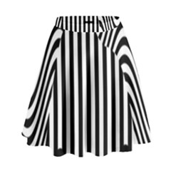 Stripe Abstract Stripped Geometric Background High Waist Skirt by Simbadda