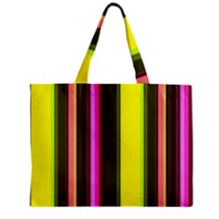 Stripes Abstract Background Pattern Zipper Mini Tote Bag by Simbadda