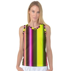 Stripes Abstract Background Pattern Women s Basketball Tank Top
