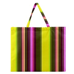 Stripes Abstract Background Pattern Zipper Large Tote Bag by Simbadda