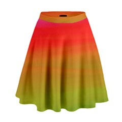 Watercolour Abstract Paint Digitally Painted Background Texture High Waist Skirt by Simbadda