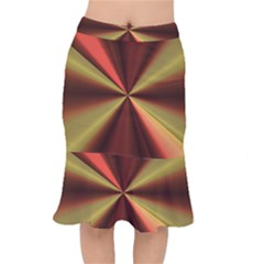 Copper Beams Abstract Background Pattern Mermaid Skirt
