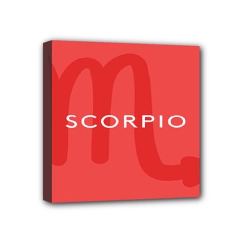 Zodiac Scorpio Mini Canvas 4  X 4  by Mariart