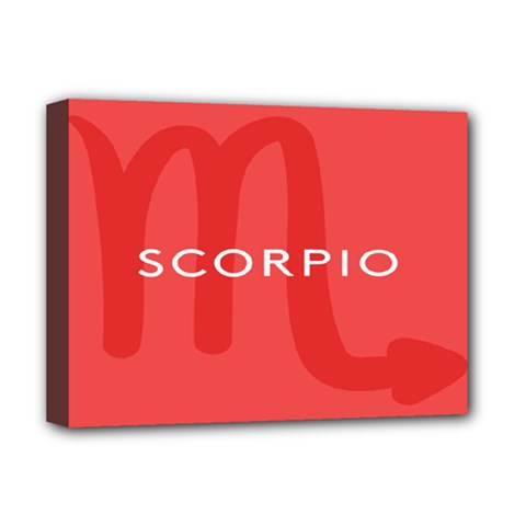 Zodiac Scorpio Deluxe Canvas 16  X 12   by Mariart