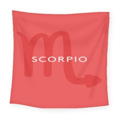 Zodiac Scorpio Square Tapestry (large) by Mariart