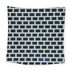 Bricks Black Blue Line Square Tapestry (large) by Mariart