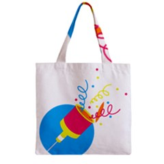 Celebration Injecting Zipper Grocery Tote Bag by Mariart