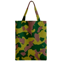 Camouflage Green Yellow Brown Zipper Classic Tote Bag by Mariart
