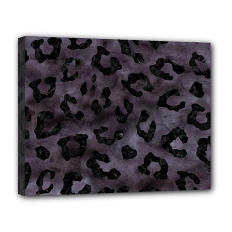Skin5 Black Marble & Black Watercolor Canvas 14  X 11  (stretched) by trendistuff