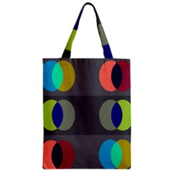 Circles Line Color Rainbow Green Orange Red Blue Zipper Classic Tote Bag by Mariart