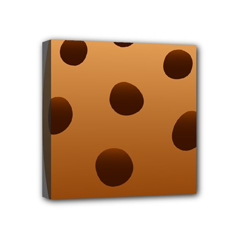 Cookie Chocolate Biscuit Brown Mini Canvas 4  X 4  by Mariart