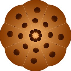 Cookie Chocolate Biscuit Brown Golf Umbrellas by Mariart