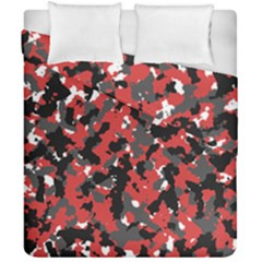 Bloodshot Camo Red Urban Initial Camouflage Duvet Cover Double Side (california King Size) by Mariart