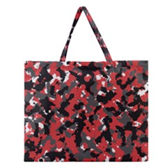Bloodshot Camo Red Urban Initial Camouflage Zipper Large Tote Bag by Mariart