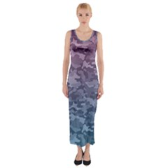 Celebration Purple Pink Grey Fitted Maxi Dress by Mariart