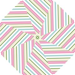Diagonal Stripes Color Rainbow Pink Green Red Blue Straight Umbrellas by Mariart