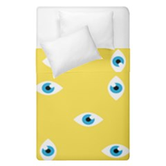 Eye Blue White Yellow Monster Sexy Image Duvet Cover Double Side (single Size) by Mariart