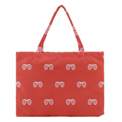 Glasses Disco Retina Red White Line Medium Tote Bag by Mariart