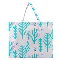 Forest Drop Blue Pink Polka Circle Zipper Large Tote Bag by Mariart