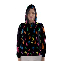 Hand And Footprints Hooded Wind Breaker (women) by Mariart