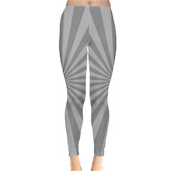 Grey Starburst Line Light Leggings  by Mariart