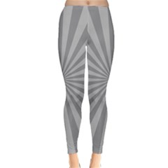 Grey Starburst Line Light Classic Winter Leggings by Mariart