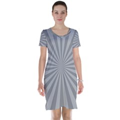 Grey Starburst Line Light Short Sleeve Nightdress by Mariart