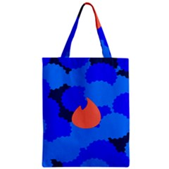 Image Orange Blue Sign Black Spot Polka Zipper Classic Tote Bag by Mariart