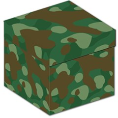 Initial Camouflage Como Green Brown Storage Stool 12   by Mariart