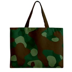 Initial Camouflage Como Green Brown Zipper Mini Tote Bag by Mariart