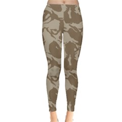 Initial Camouflage Brown Leggings  by Mariart