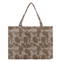 Initial Camouflage Brown Medium Tote Bag by Mariart