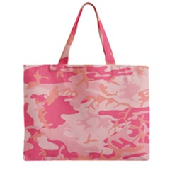 Initial Camouflage Camo Pink Zipper Mini Tote Bag by Mariart