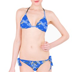 Oceanic Camouflage Blue Grey Map Bikini Set by Mariart