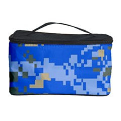 Oceanic Camouflage Blue Grey Map Cosmetic Storage Case by Mariart