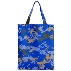 Oceanic Camouflage Blue Grey Map Zipper Classic Tote Bag by Mariart