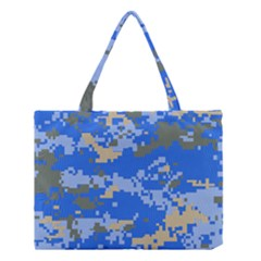 Oceanic Camouflage Blue Grey Map Medium Tote Bag by Mariart