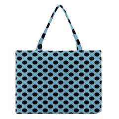 Polka Dot Blue Black Medium Tote Bag by Mariart