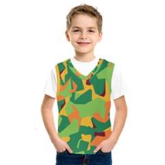 Initial Camouflage Green Orange Yellow Kids  Sportswear