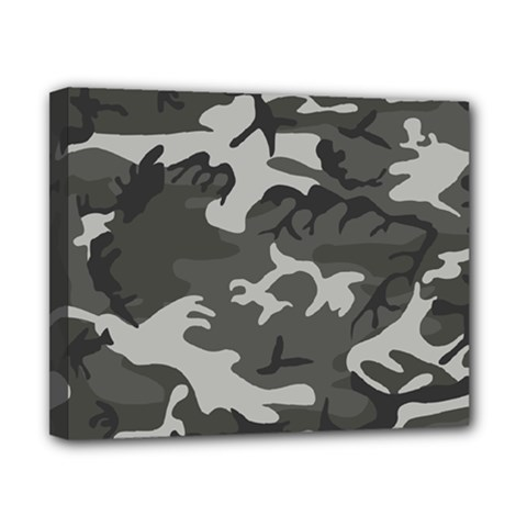 Initial Camouflage Grey Canvas 10  X 8  by Mariart